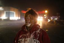A woman in Ferguson after being teargassed.