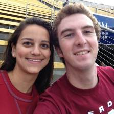 Nick and I at the Stanford Cal game a few weeks earlier.